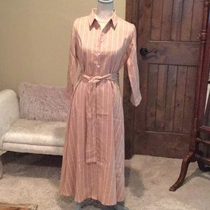Fantastic Fawn belted button dress...NWOT